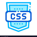 Coding Language CSS System Vector Thin Line Icon. Binary System, Data Encryption Linear Pictogram. Web Style Development, Programming Bug Fixing, HTML, Script Contour Illustration